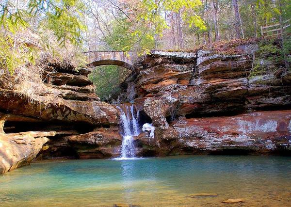 Hocking Hills Photograph - Winter Fall At Hocking Hills by Monica Lewis