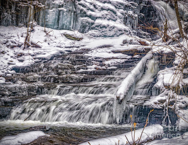 Photograph - Winter Falls Trail by Nick Zelinsky