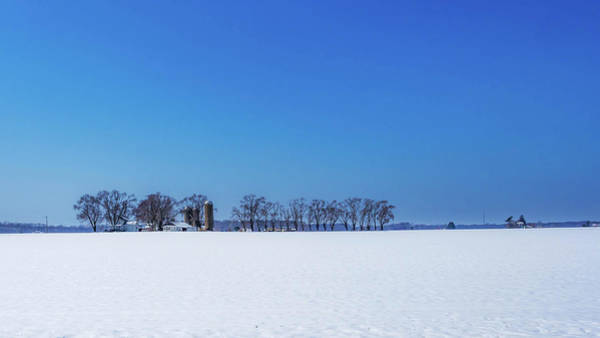 Photograph - Winter Farm Blue Sky by Louis Dallara