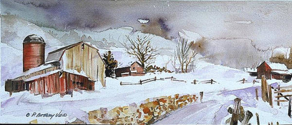 Painting - Winter Farm Country by P Anthony Visco