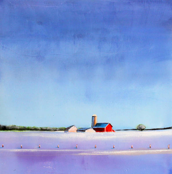 Barn Snow Painting - Winter Farm by Toni Grote