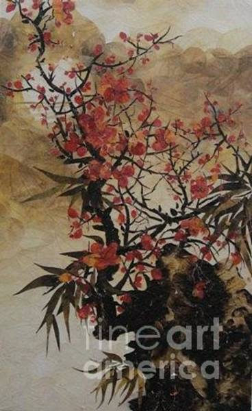 Wall Art - Painting - Winter Flower by Tran Thu Thuy