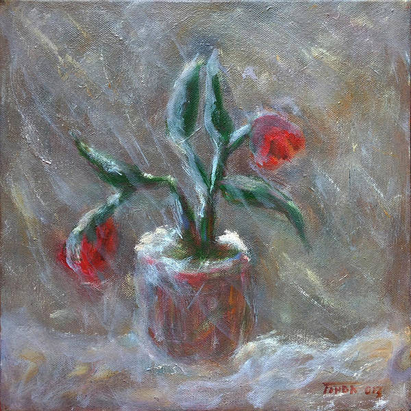 Painting - Winter Flowers by Katt Yanda