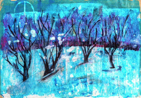 Drawing - Winter Forest by Ariadna De Raadt