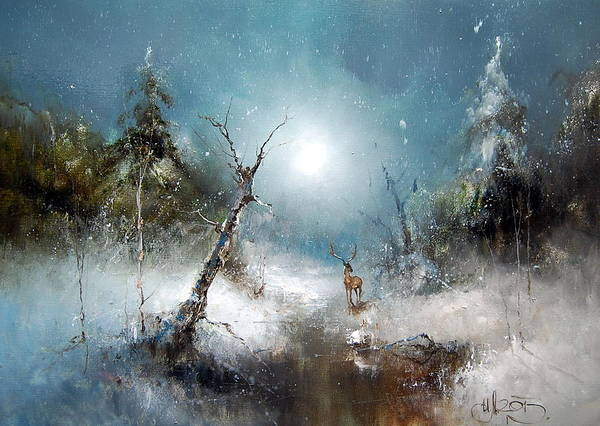 Painting - Winter Forest by Igor Medvedev