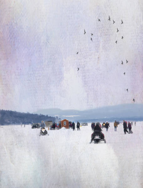Photograph - Winter Fun On The Lake by Betty Pauwels