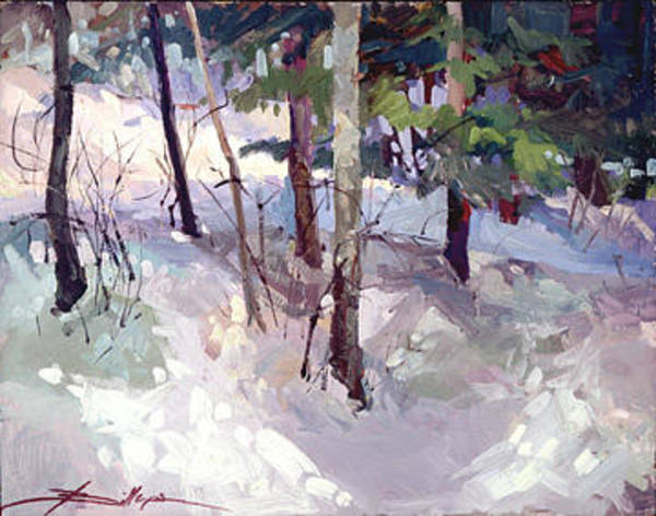 Painting - Winter Garden Plein Air by Betty Jean Billups