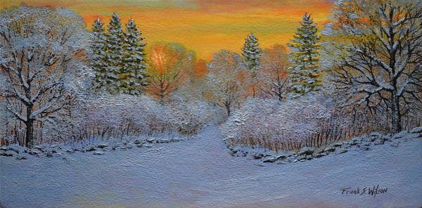Wall Art - Painting - Winter Glow by Frank Wilson