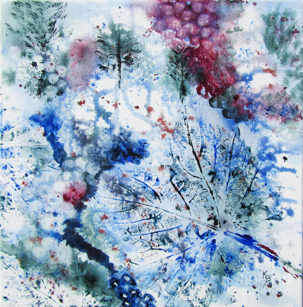 Painting - Winter Grapes II by Karen Fleschler