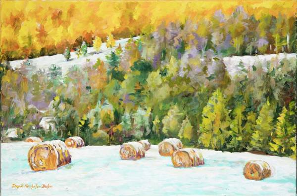 Painting - Winter Hayfield by Ingrid Dohm