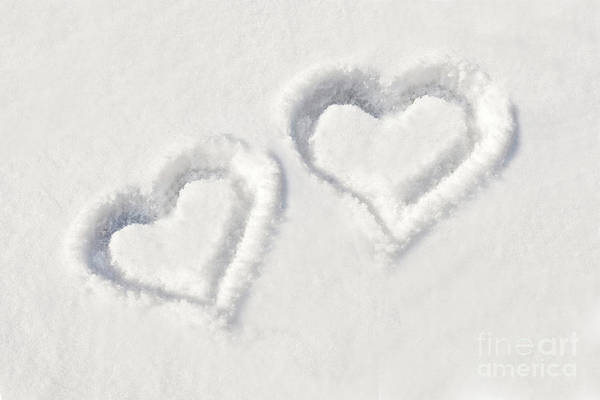 Wall Art - Photograph - Winter Hearts by Delphimages Photo Creations