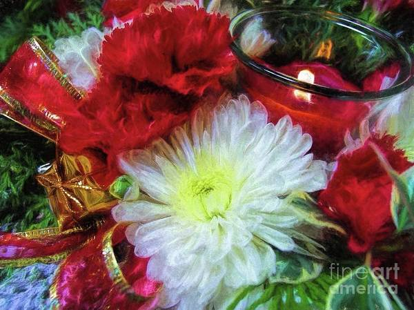 Floristry Photograph - Winter Holiday  by Peggy Hughes