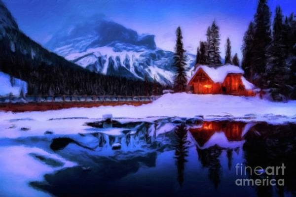 Wall Art - Painting - Winter Home by Sarah Kirk