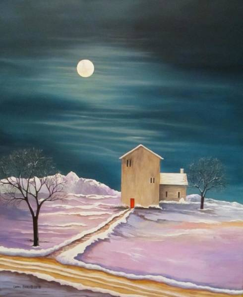 Wall Art - Painting - Winter Homested by Carol Sabo