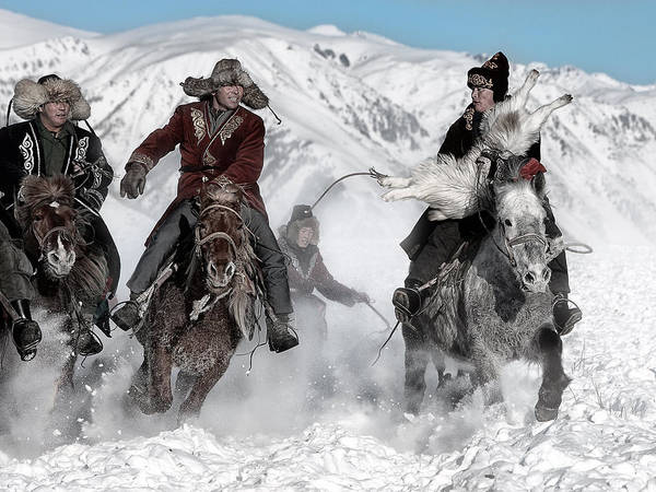 Racing Photograph - Winter Horse Race by Bj Yang