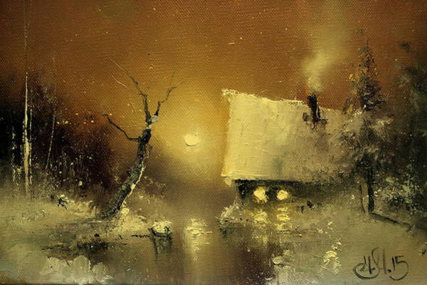 Painting - Winter House by Igor Medvedev