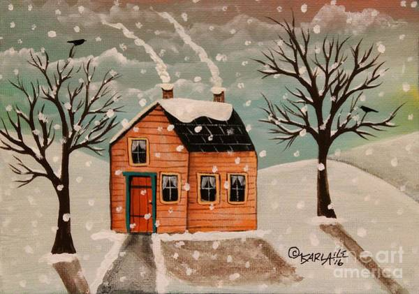 Wall Art - Painting - Winter House by Karla Gerard