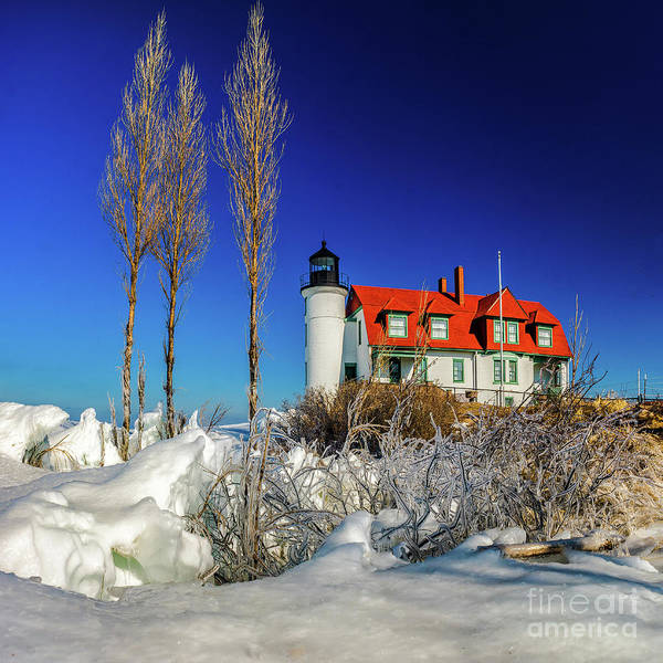 Photograph - Winter Ice At Point Betsie by Nick Zelinsky
