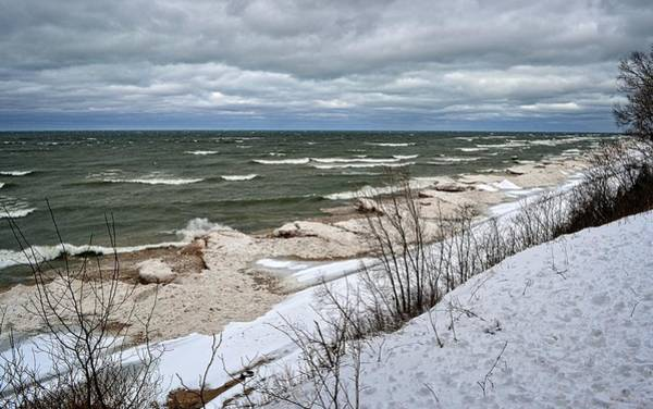Photograph - Winter Ice On Lake Michigan Ll by Michelle Calkins