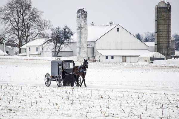 Brian Wilson Wall Art - Photograph - Winter In Amish Country by Brian Wilson