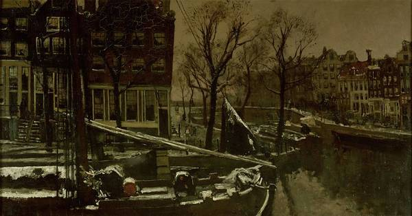 Painting - Winter In Amsterdam, George Hendrik Breitner, C. 1900 - C. 1901 by Artistic Panda