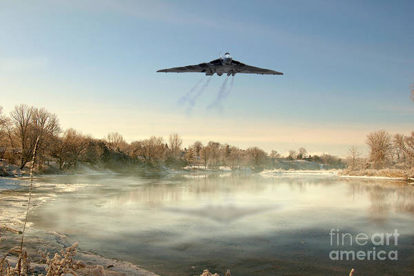 Avro Vulcan Wall Art - Digital Art - Winter In Bomber Country by J Biggadike