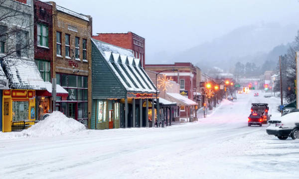 Plowing Photograph - Winter In Downtown Boone by Tommy White