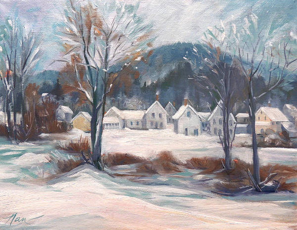 Painting - Winter In New England by Nancy Griswold