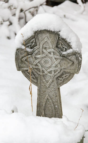 Wall Art - Photograph - Winter In Springtime Celtic Cross by Keith Mucha
