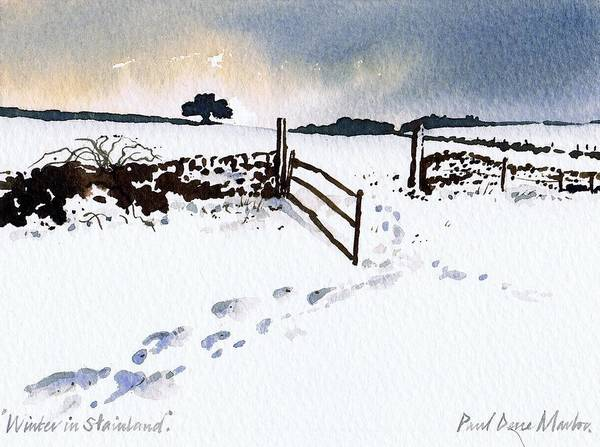 Wall Art - Painting - Winter In Stainland by Paul Dene Marlor