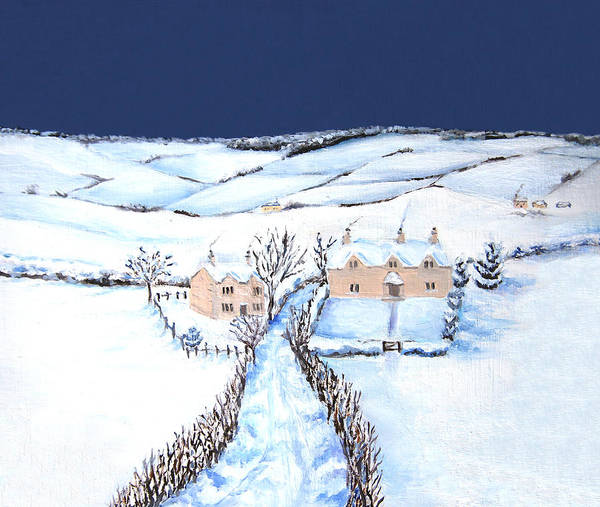 Painting - Winter In The Cotswolds by Elizabeth Lock