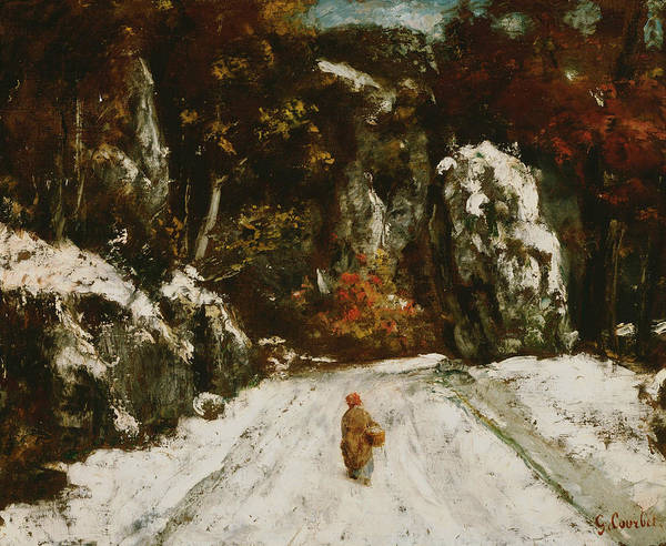 Painting - Winter In The Jura by Gustave Courbet