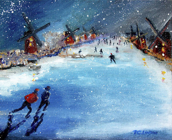 Painting - Winter In The Netherlands by Phyllis London