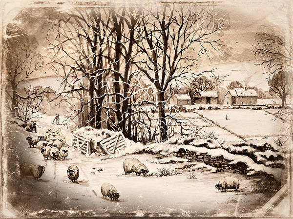 Wall Art - Painting - Winter In The Ribble Valley Frosted Edit by Andrew Read