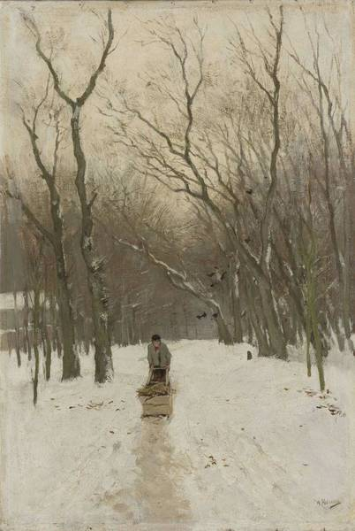 Painting - Winter In The Scheveningen Groves, Anton Mauve, 1870 - 1888 by Artistic Panda