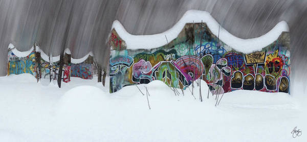 Photograph - Winter In The Skatepark No 1 by Wayne King