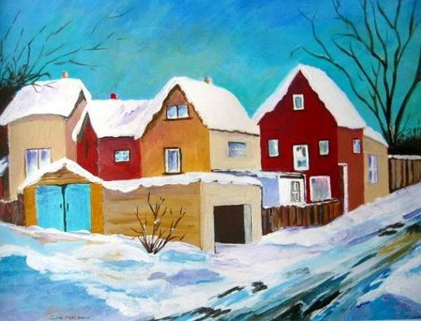 Painting - Winter In Toronto by Sue Nelson