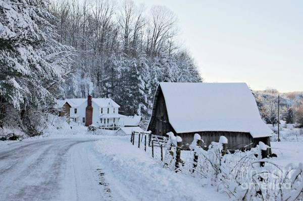 Flake Photograph - Winter In Virginia by Benanne Stiens