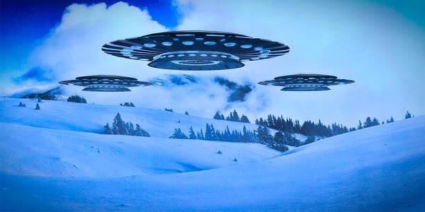 Area 51 Digital Art - Winter Invasion By Raphael Terra by Raphael Terra