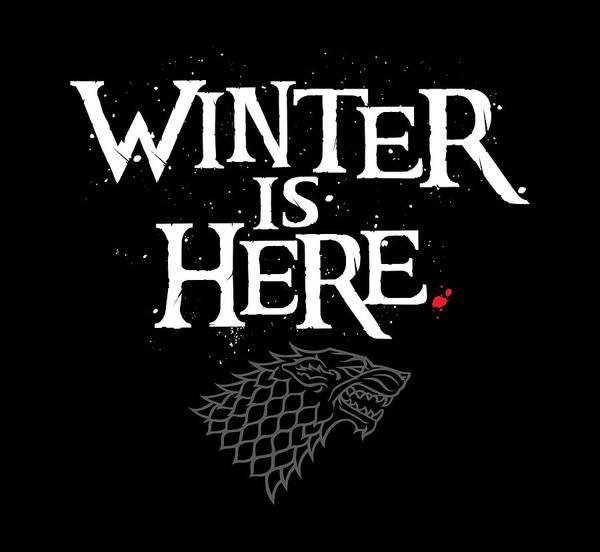 Raven Digital Art - Winter Is Here - Stark Sigil by Edward Draganski