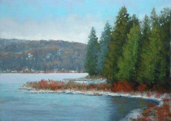 Wall Art - Painting - Winter Lake by Paula Ann Ford