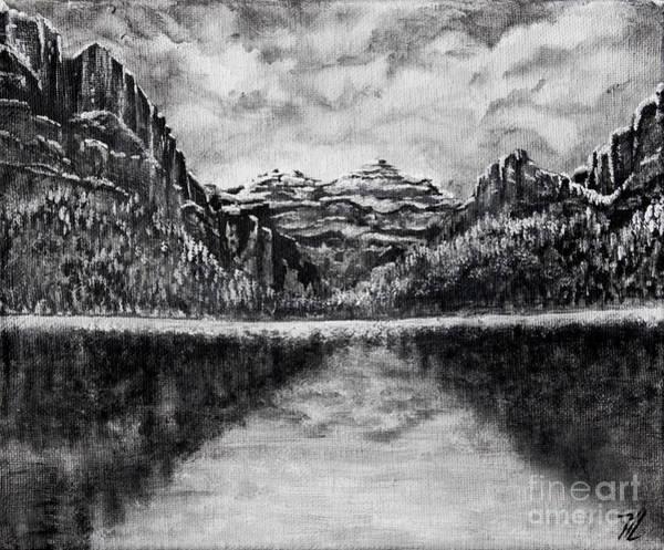 Painting - Winter Lake by Tim Musick