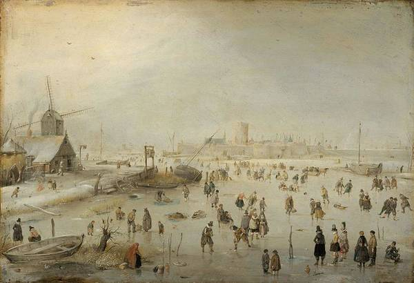 Painting - Winter Landscape By Hendrick Avercamp by Artistic Panda