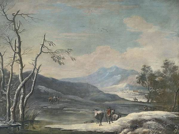 Painting - Winter Landscape Ca. 1728 - 1729 Marco Ricci by Artistic Panda