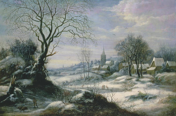 Daniel Wall Art - Painting - Winter Landscape by Daniel van Heil