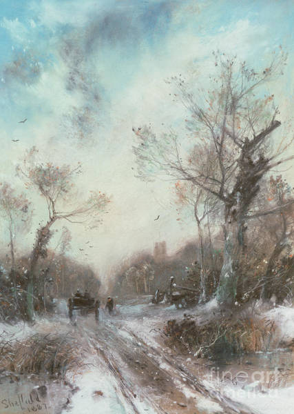 Wall Art - Painting - Winter Landscape by George Sheffield