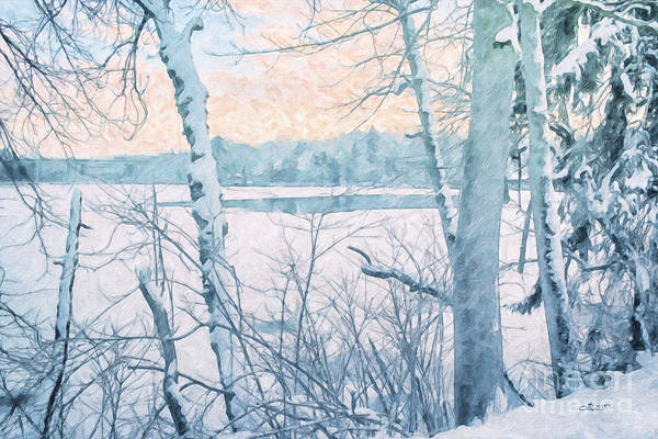 Photograph - Winter Landscape by Jutta Maria Pusl