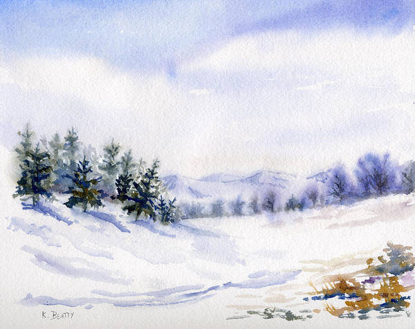 Winter Landscape Snow Scene Art Print