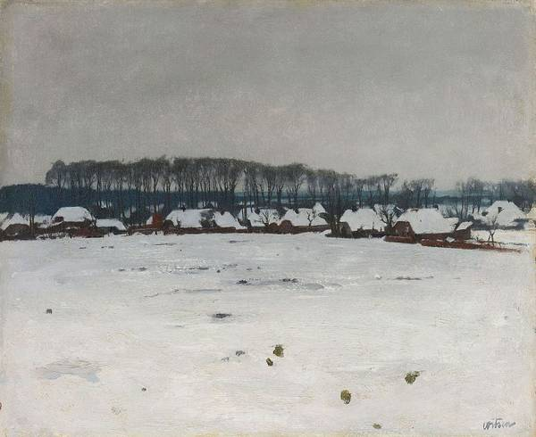 Painting - Winter Landscape  Willem Witsen, C. 1885   C. 1922 by Artistic Panda