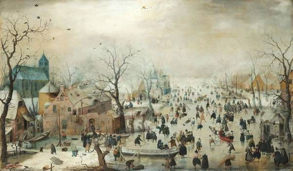 Painting - Winter Landscape With Skaters By Hendrick Avercamp by Artistic Panda